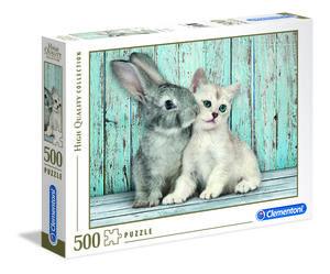 Rompecabezas Gato y Conejo (500 pzas.)