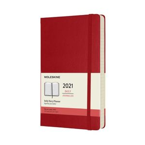 Agenda Moleskine diaria 2021 / pd. (color rojo / tamaño grande)