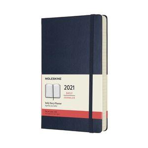 Agenda Moleskine diaria 2021 / pd. (color azul záfiro / tamaño grande)