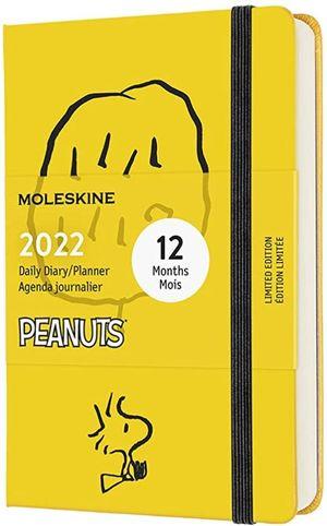 Agenda diaria 2022 Peanuts (color amarillo / tamaño de bolsillo) / pd.