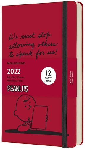 Agenda diaria 2022 Peanuts (color rojo escarlata) / pd.