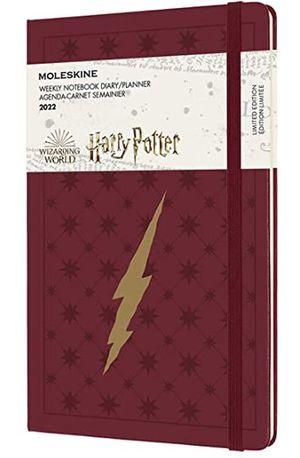 Agenda semanal 2022 Harry Potter (color rojo de burdeos / tamaño grande) / pd.