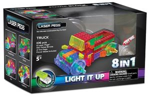 LASER PEGS TRUCK 8 MODELS IN 1 / CAMION 106 PZAS.