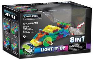 LASER PEGS SPORTS CAR 8 MODELS IN 1 / AUTO DEPORTIVO 89 PZAS.