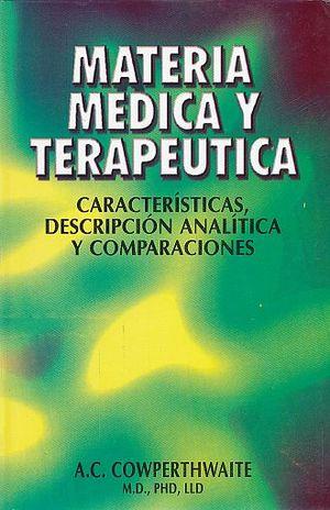 MATERIA MEDICA Y TERAPEUTICA. CARACTERISTICAS DESCRIPCION