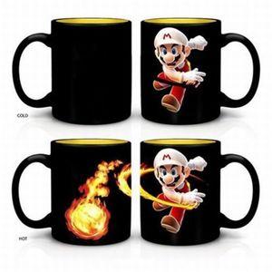 TAZA MARIO HEAT CHANGING FIREBALL COFFE MUG 16 OZ.