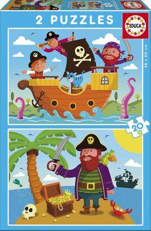 Rompecabezas Piratas (2 x 20 Piezas)