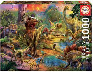 Rompecabezas Tierra de dinosaurios (1000 Piezas)