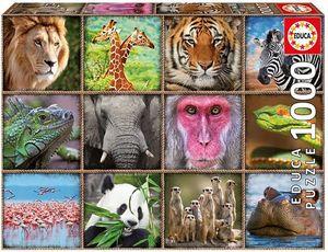 ROMPECABEZAS COLLAGE DE ANIMALES SALVAJES / 1000 PZAS. EDUCA