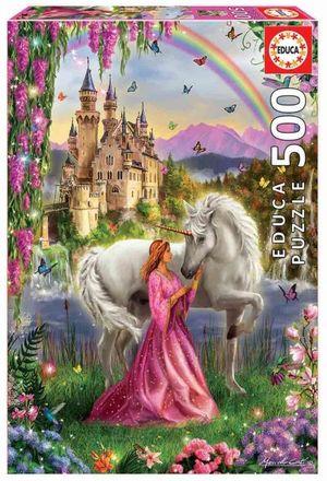Rompecabezas Hada y Unicornio (500 pzas.)