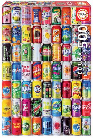 Rompecabezas Latas de soda (500 Piezas)