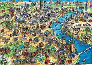 Rompecabezas Mapa de Londres (500 pzas.)