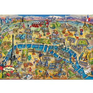 Rompecabezas Mapa de París (500 Piezas)