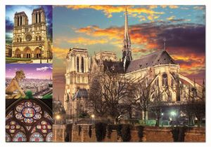 Rompecabezas Collage de Notre Dame (1000 Piezas)