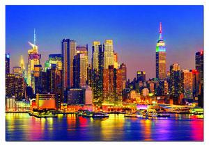 Rompecabezas Manhattan de noche (1500 Piezas)