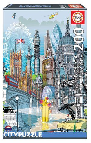 Rompecabezas Londres Educa City Puzzle (200 Piezas)