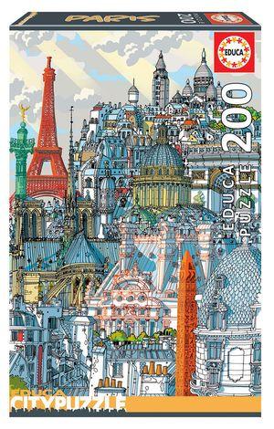 Rompecabezas París Educa City Puzzle (200 Piezas)
