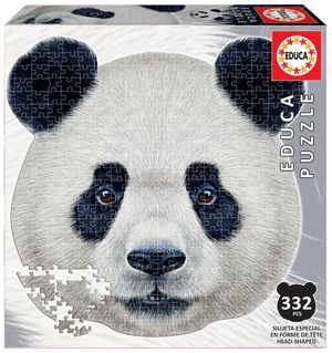 Rompecabezas Cara de oso panda (353 Piezas)