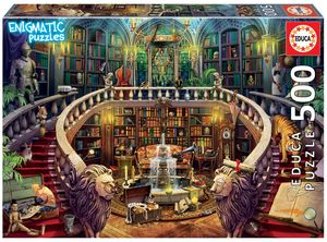 Rompecabezas Biblioteca antigua. Enigmatic puzzle (500 Piezas)