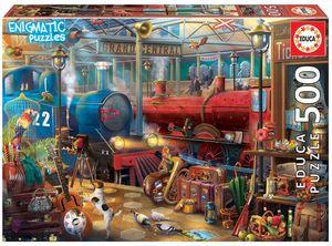 Rompecabezas Estación de tren. Enigmatic puzzle (500 Piezas)