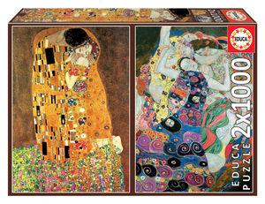 Rompecabezas El Beso + La Virgen Klim (2 x 1000 pzas.)