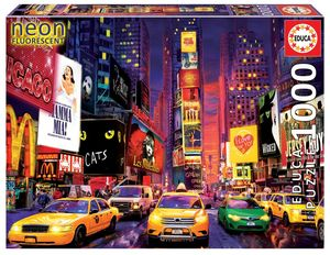 Rompecabezas Times Square Nueva York. Neón (1000 Piezas)
