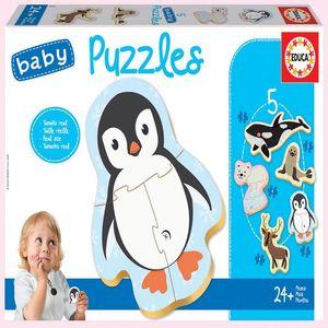 Rompecabezas Baby Puzzles animales polares (19 pzas.)