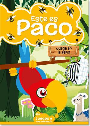 Este es Paco. Juega en la selva