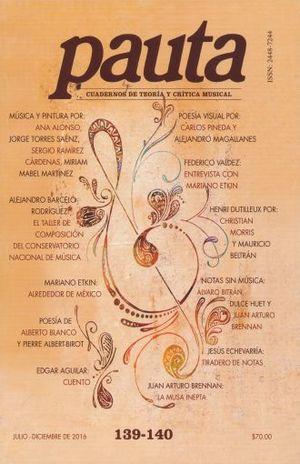 PAUTA. CUADERNOS DE TEORIA Y CRITICA MUSICAL NO. 139 - 140