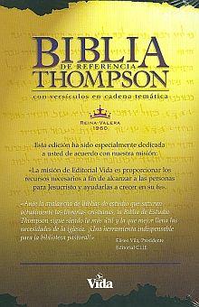 BIBLIA THOMPSON TELA ROJO OSCURO