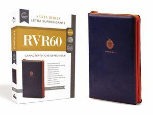 Santa Biblia. Letra supergigante (leathersoft azul con cierre)
