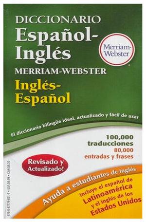 DICCIONARIO ESPAÑOL INGLES - INGLES ESPAÑOL MERRIAM WEBSTER