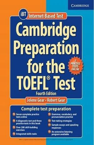 Cambridge preparation for the TOEFL test. Book with online practice tests