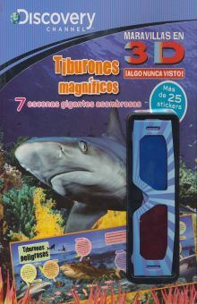 TIBURONES MAGNIFICOS. DISCOVERY 3D (INCLUYE LENTES 3D)