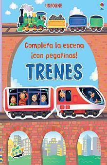 TRENES. COMPLETA LA ESCENA CON PEGATINAS