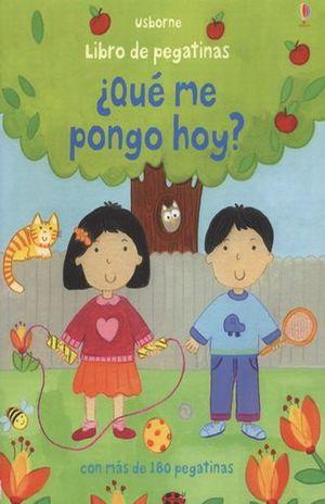 QUE ME PONGO HOY. LIBRO DE PEGATINAS