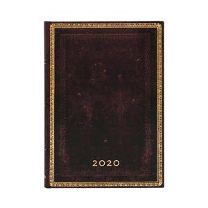 AGENDA 2020 BLACK MOROCCAN MIDI SEMANAL