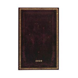 AGENDA 2020 BLACK MOROCCAN MAXI SEMANAL