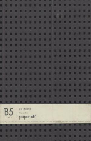 CUADERNO QUADRO GREY ON BLACK LINED B5 DE RAYA