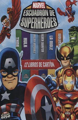 MARVEL ESCUADRON DE SUPERHEROES / 12 LIBROS DE CARTON (PD)