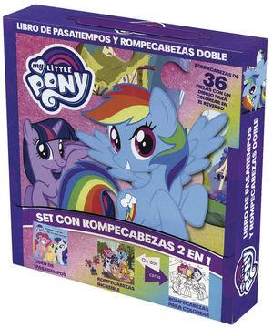 Libro de pasatiempos y rompecabezas doble. My little pony