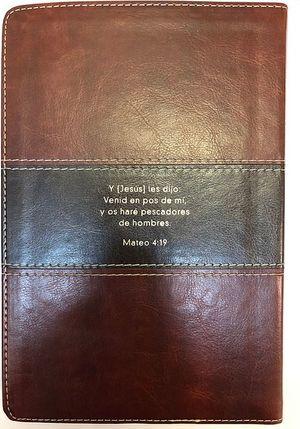 Biblia del pescador. Reina Valera 1960 (simil piel caoba / letra grande)