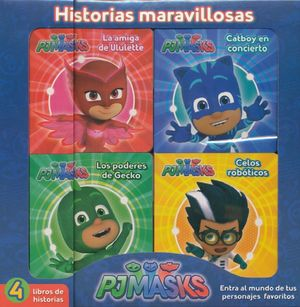 PJ MASKS (4 TITULOS) / HISTORIAS MARAVILLOSAS / PD.
