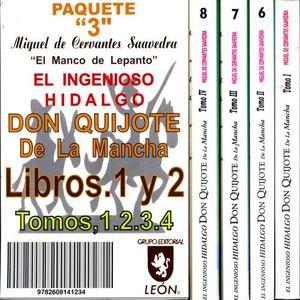 PAQ. 3. DON QUIJOTE DE LA MANCHA (LIBROS 1 Y 2) / 4 TOMOS