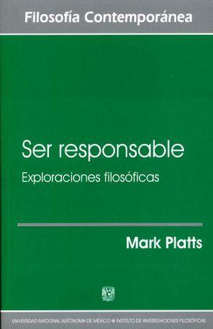 SER RESPONSABLE. EXPLORACIONES FILOSOFICAS