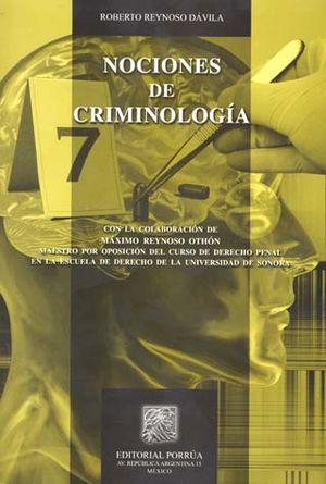 NOCIONES DE CRIMINOLOGIA