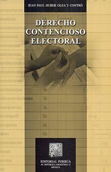 DERECHO CONTENCIOSO ELECTORAL