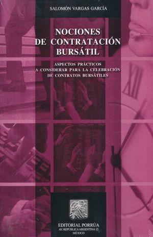 NOCIONES DE CONTRATACION BURSATIL / 2 ED.