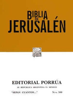 # 500. BIBLIA DE JERUSALEN / 4 ED.
