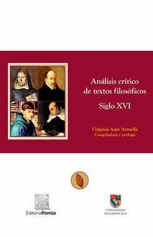 ANALISIS CRITICO DE TEXTOS FILOSOFICOS SIGLO XVI